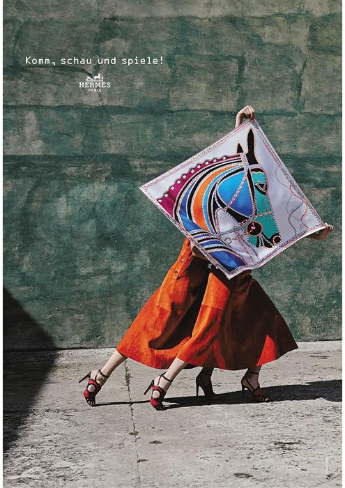 Campagne publicitaire Hermès - Version française - Printemps Été 2018 - Spring Summer 18 - Copywriting - Conception-rédaction - German transcreation translation